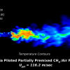 LES CFD simulation to predict extinction of partially premixed Sandia methane-air flame F