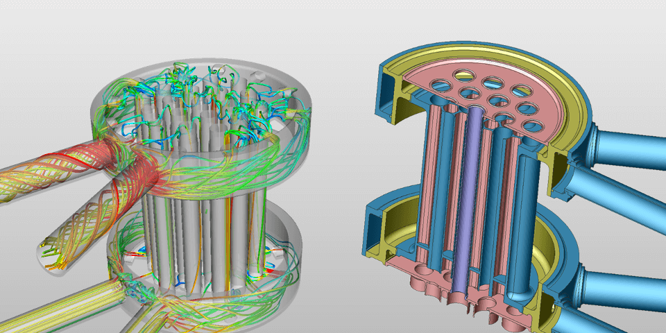 CRUNCH CFD heat exchanger simulation.