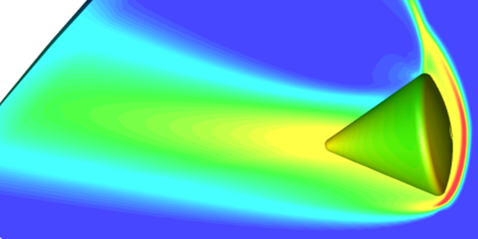 Apollo reentry with continuum and non-continuum flow regions using CRAFT CFD and AEGIS toolkit.