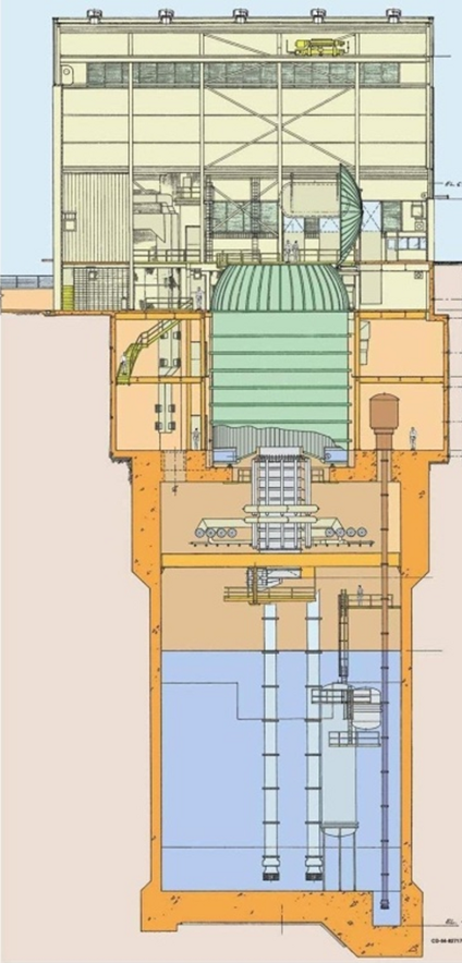 Diagram of the NASA B2 spray chamber facility.
